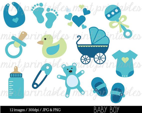 Baby Boy Shower Clip Art--15