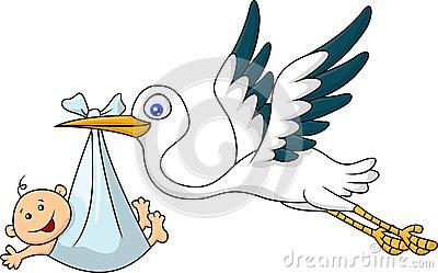 Baby Stork Clipart