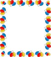 Balloon Border Clip Art--14