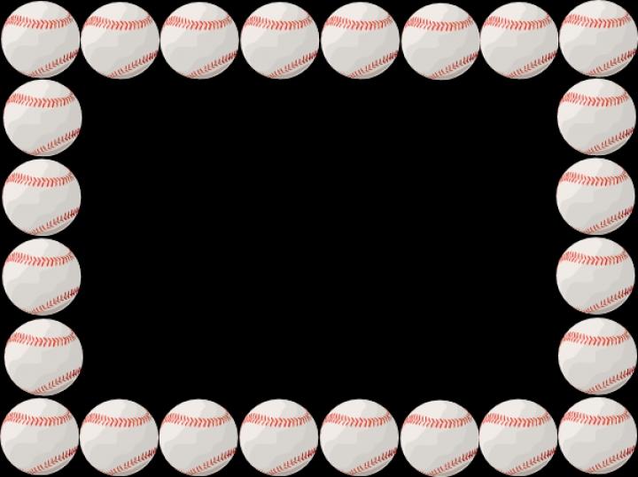 Baseball Border Clipart--2