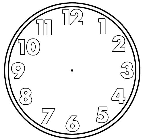 Blank Clock Clipart--3