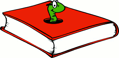 Book Worm Clipart--11