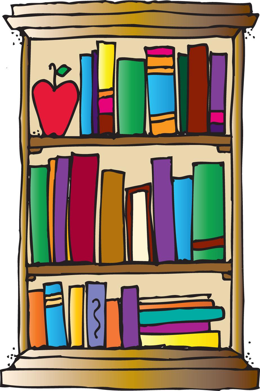 Bookshelf Clipart--0