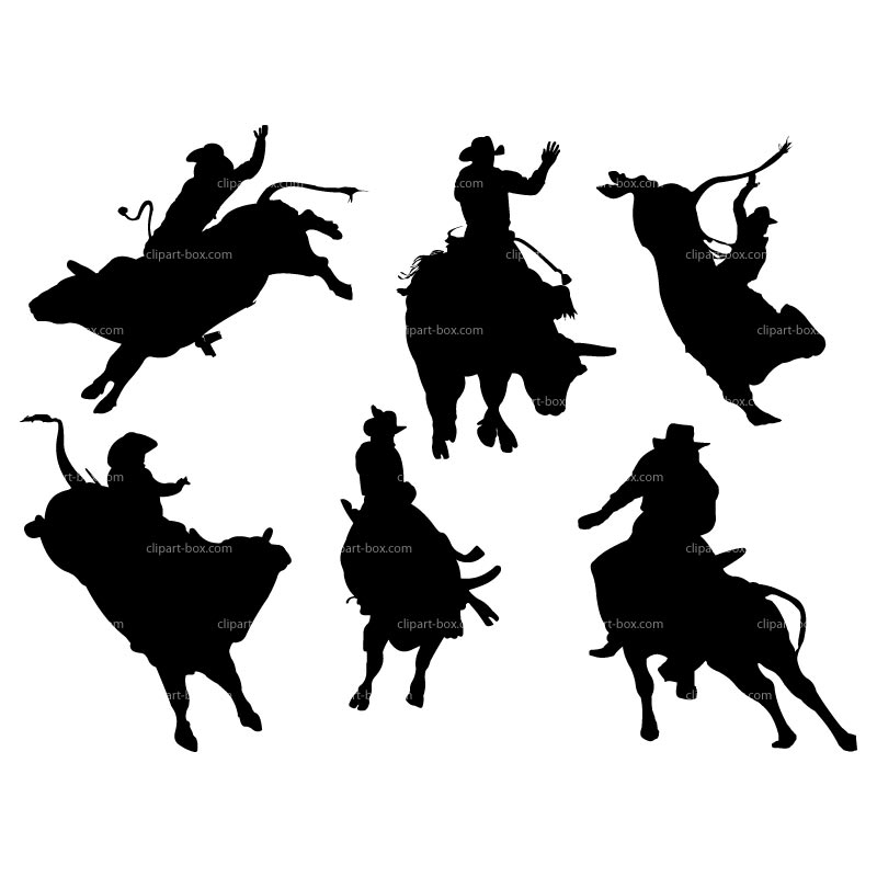 Bull Riding Clip Art