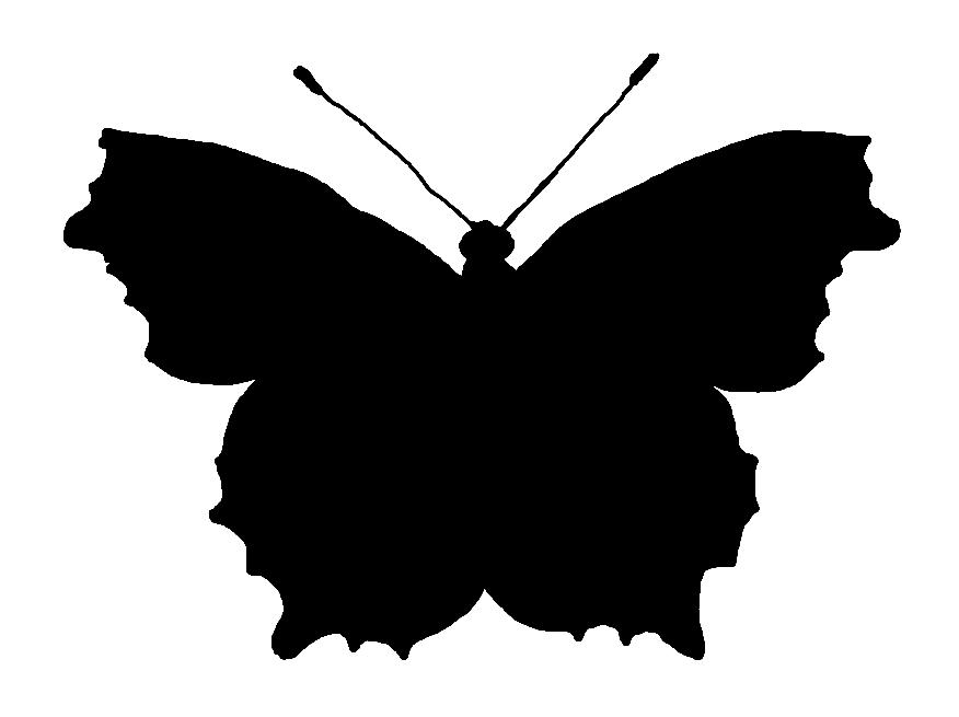 Butterfly Silhouette Clip Art--14