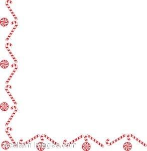 Candy Cane Border Clip Art