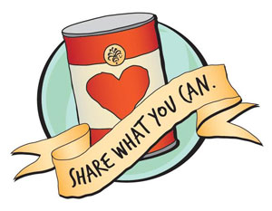 Canned Food Drive Clip Art--3