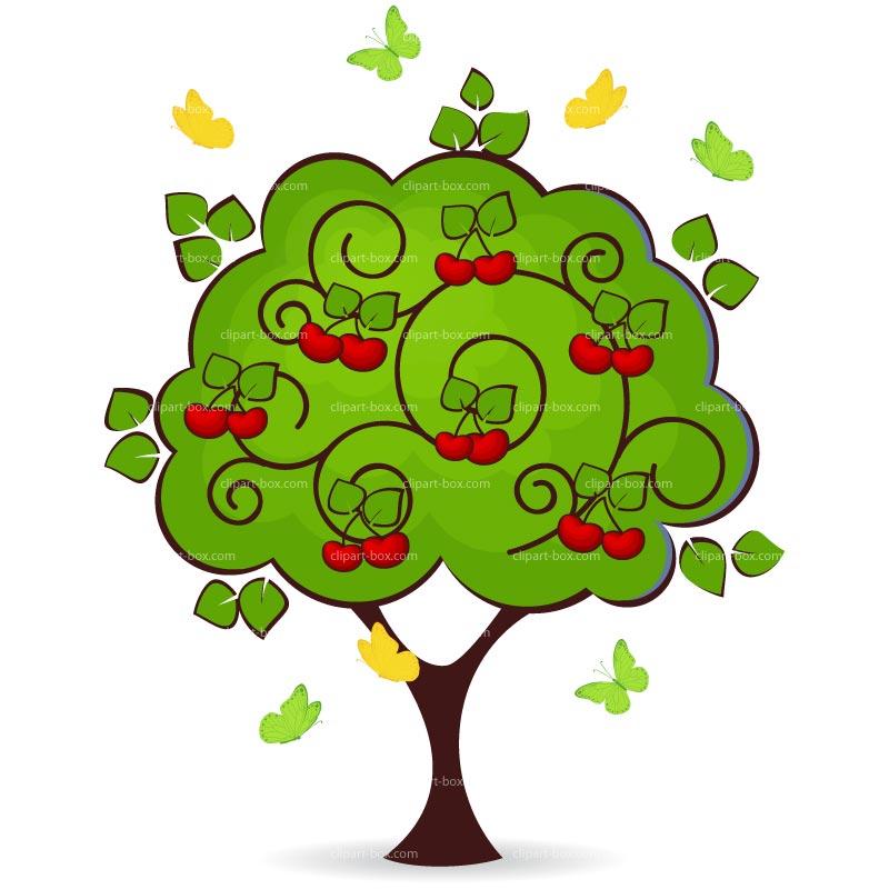 Cherry Tree Clipart--0