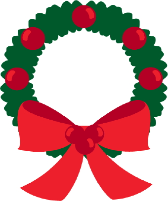 Christmas Wreath Clip Art--0