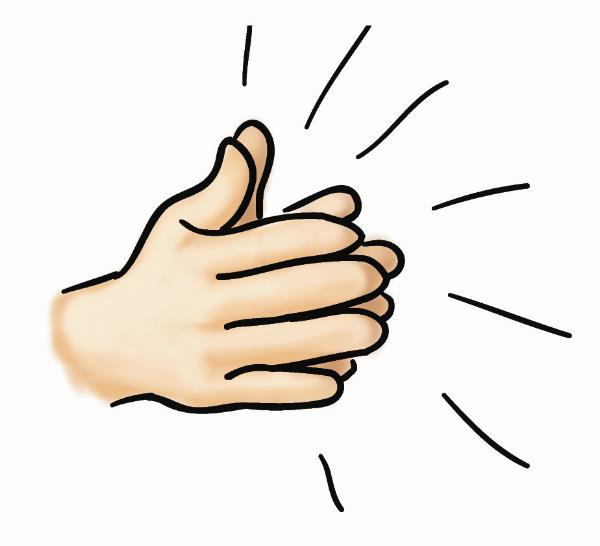 Clapping Hands Clip Art--1