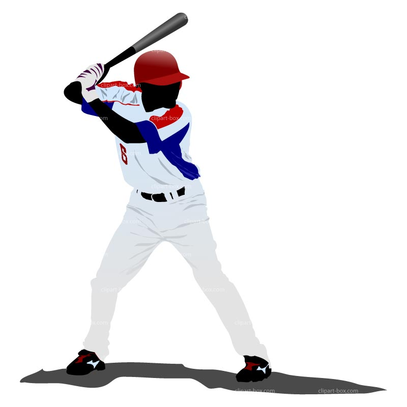 Clipart Baseball Player--17