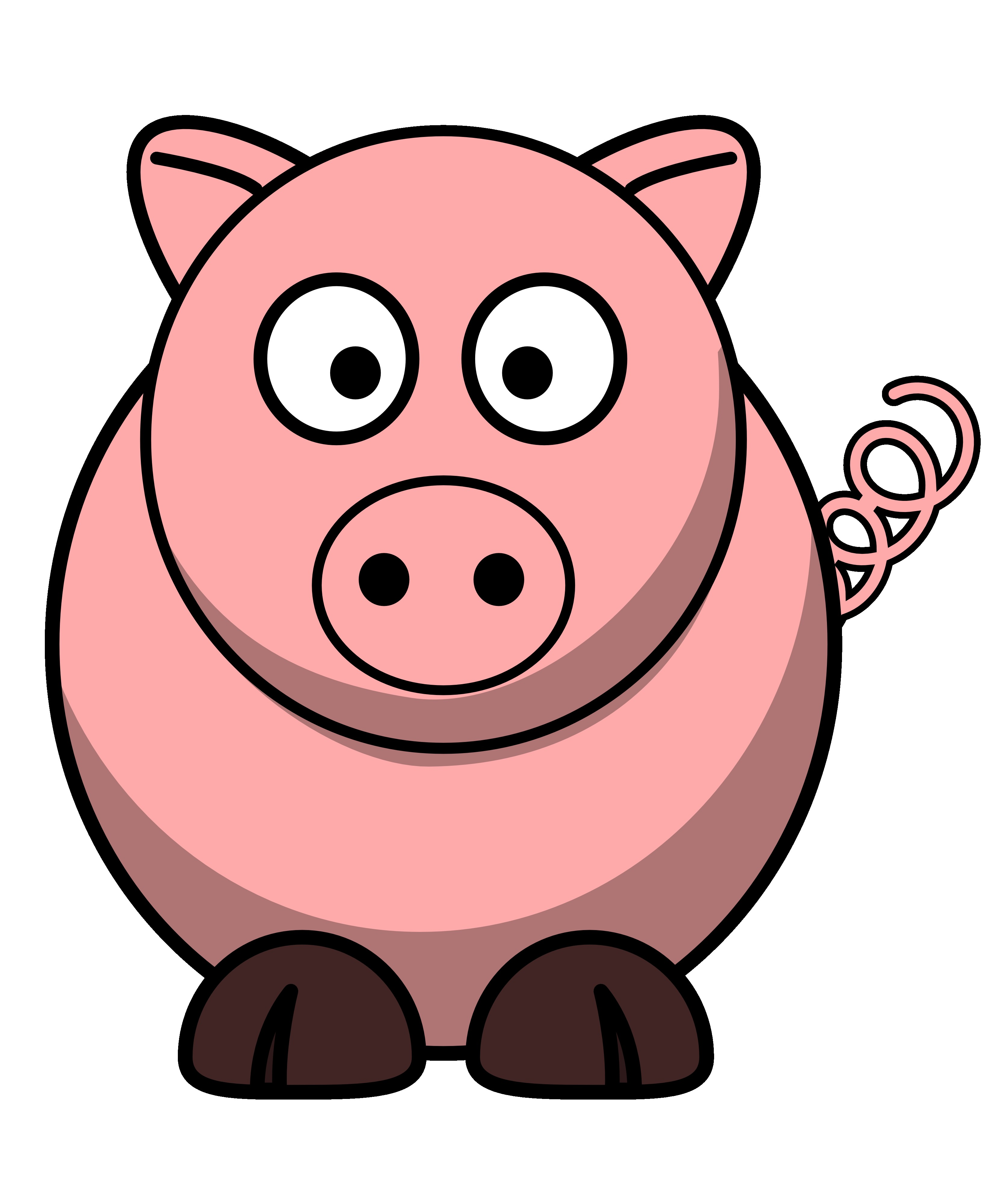 Clipart Of Pigs--13