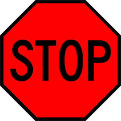Clipart Stop Sign--0