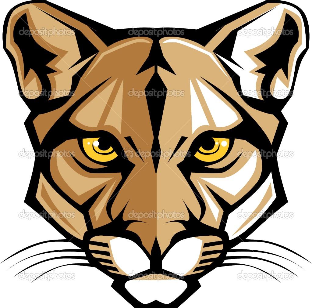 Cougar Mascot Clipart--0