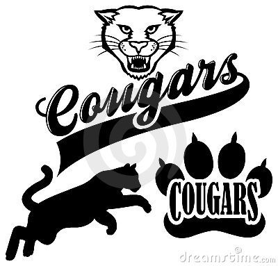 Cougar Mascot Clipart--1