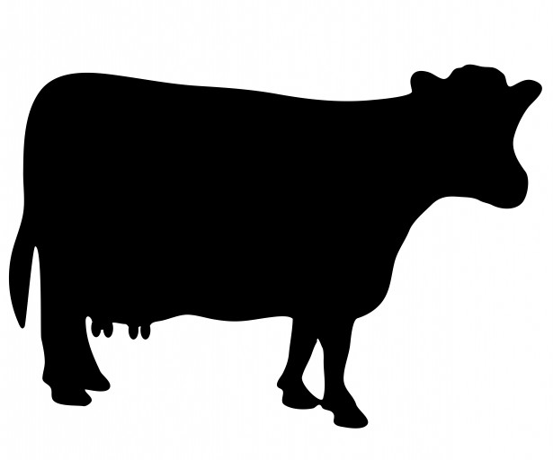 Cow Silhouette Clip Art--1