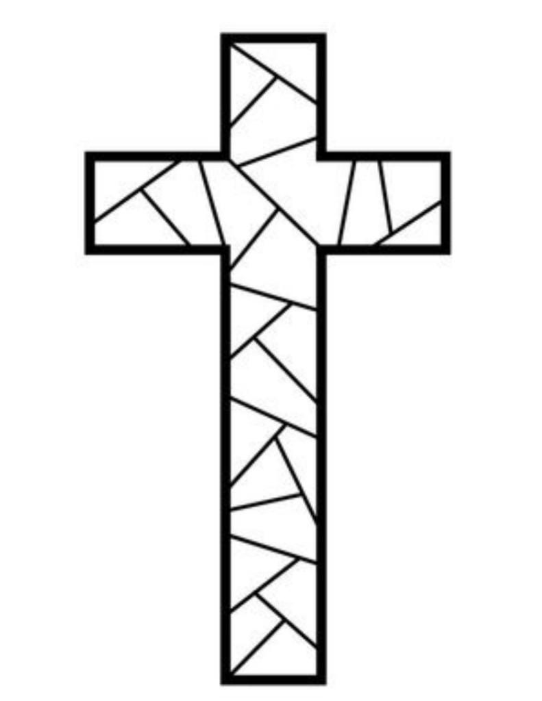 Cross Outline Clip Art