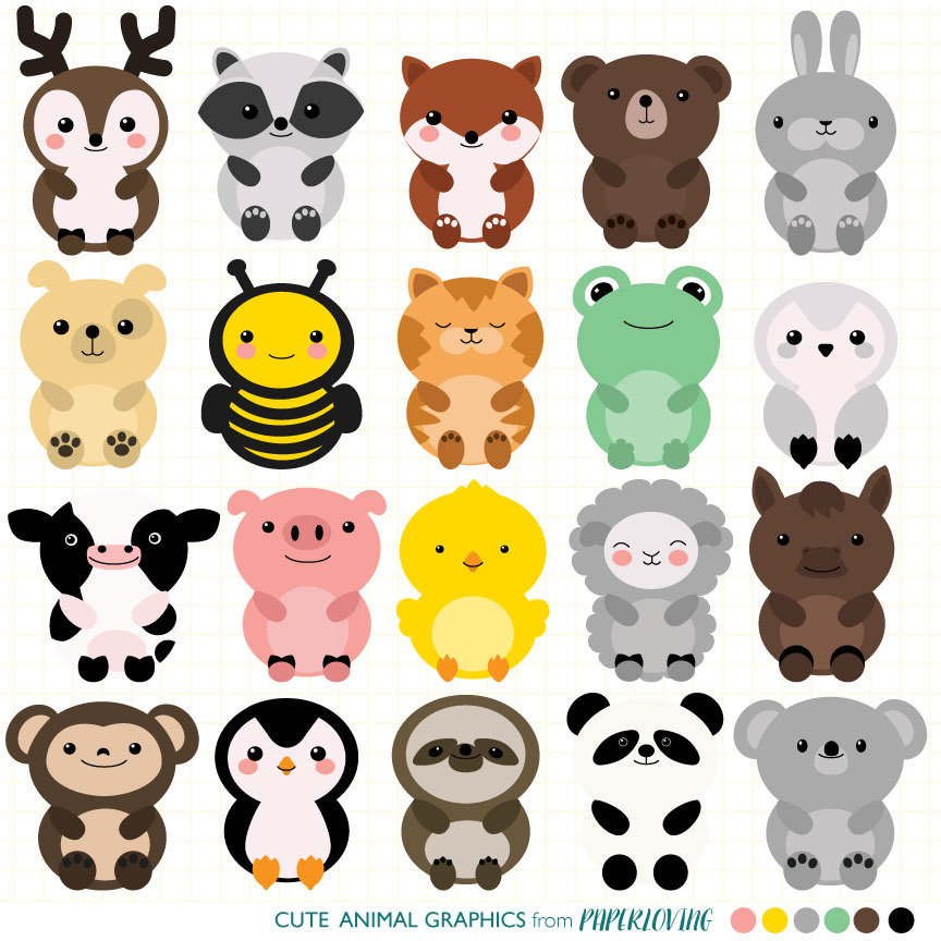 Cute Animal Clip Art & Look At Clip Art Images - ClipartLook