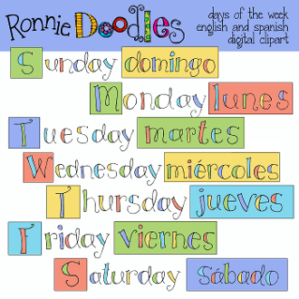 Days Of The Week Clip Art--0