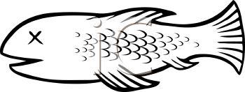 Dead Fish Clipart--1