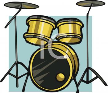 Drum Set Clipart--0