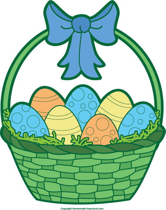 Easter Basket Clip Art--17