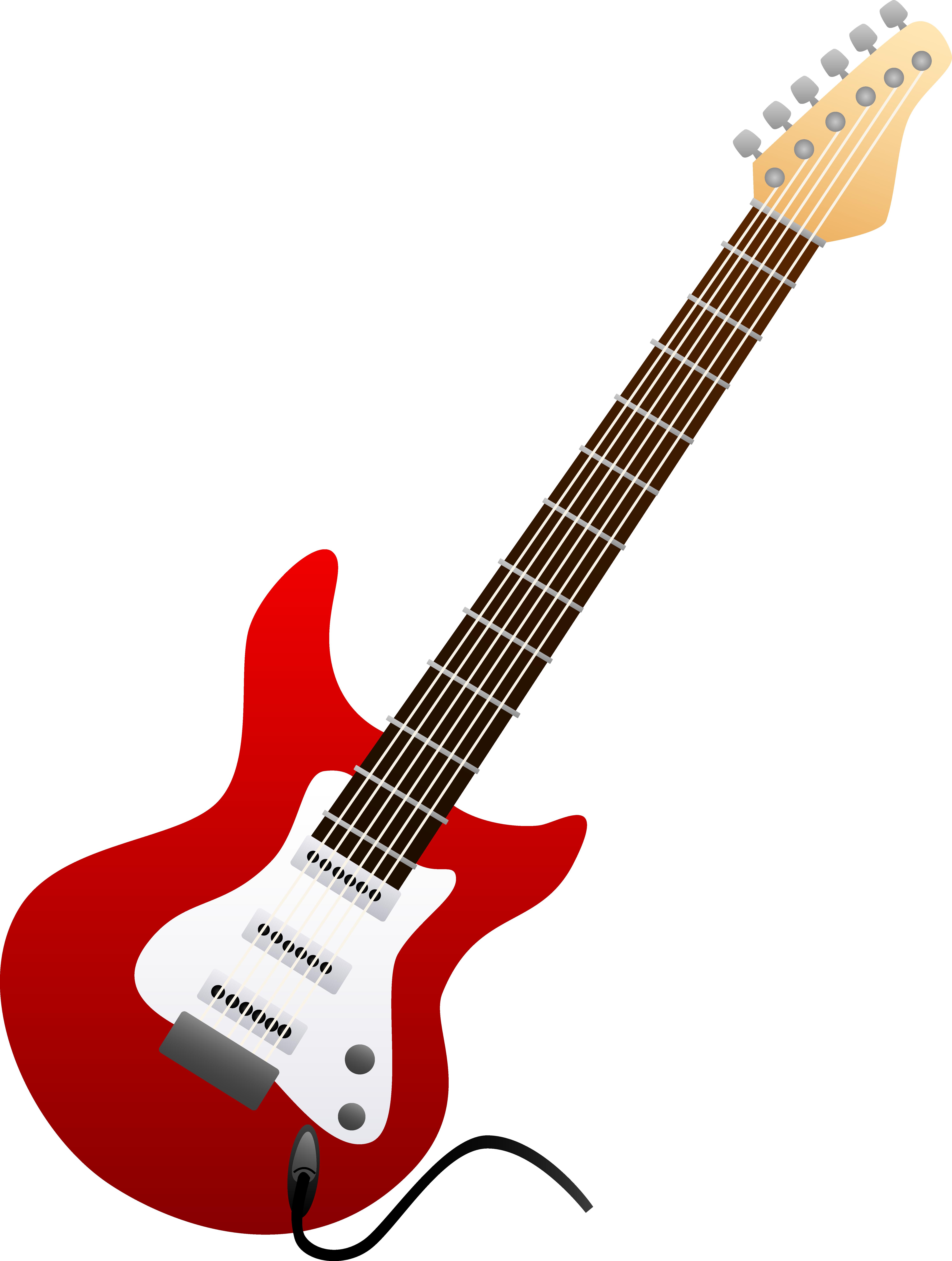 Electric Guitar Clip Art--0