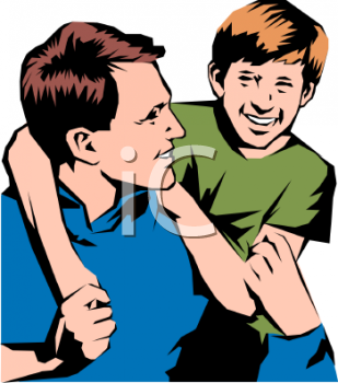 Father And Son Clipart--0