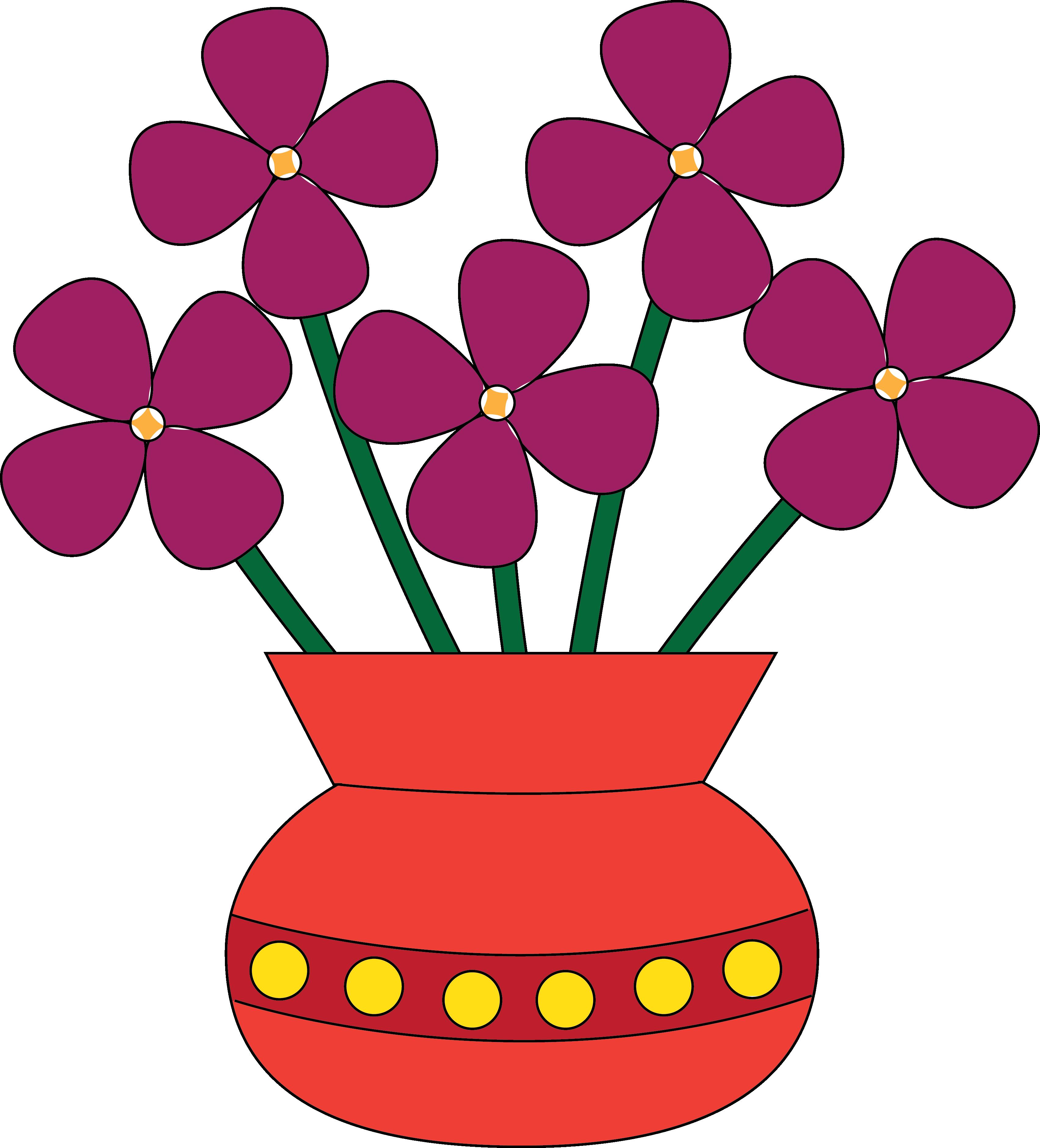 Flower Vase Clipart--0