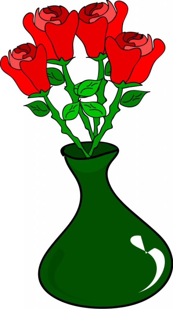 Flower Vase Clipart--10