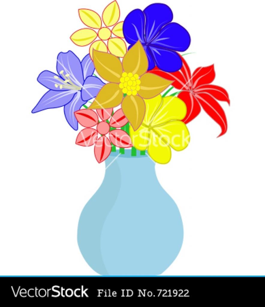 Flower Vase Clipart--15