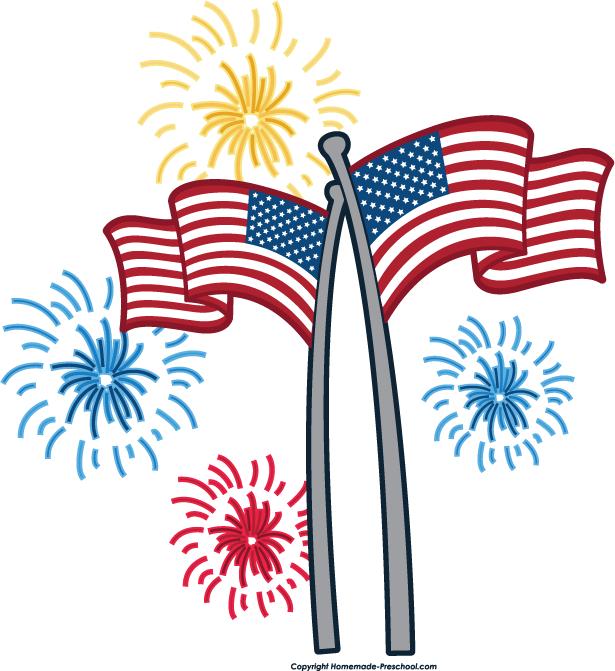 Free Clip Art Fireworks--7