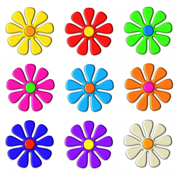 Free Clipart Of Flowers--0