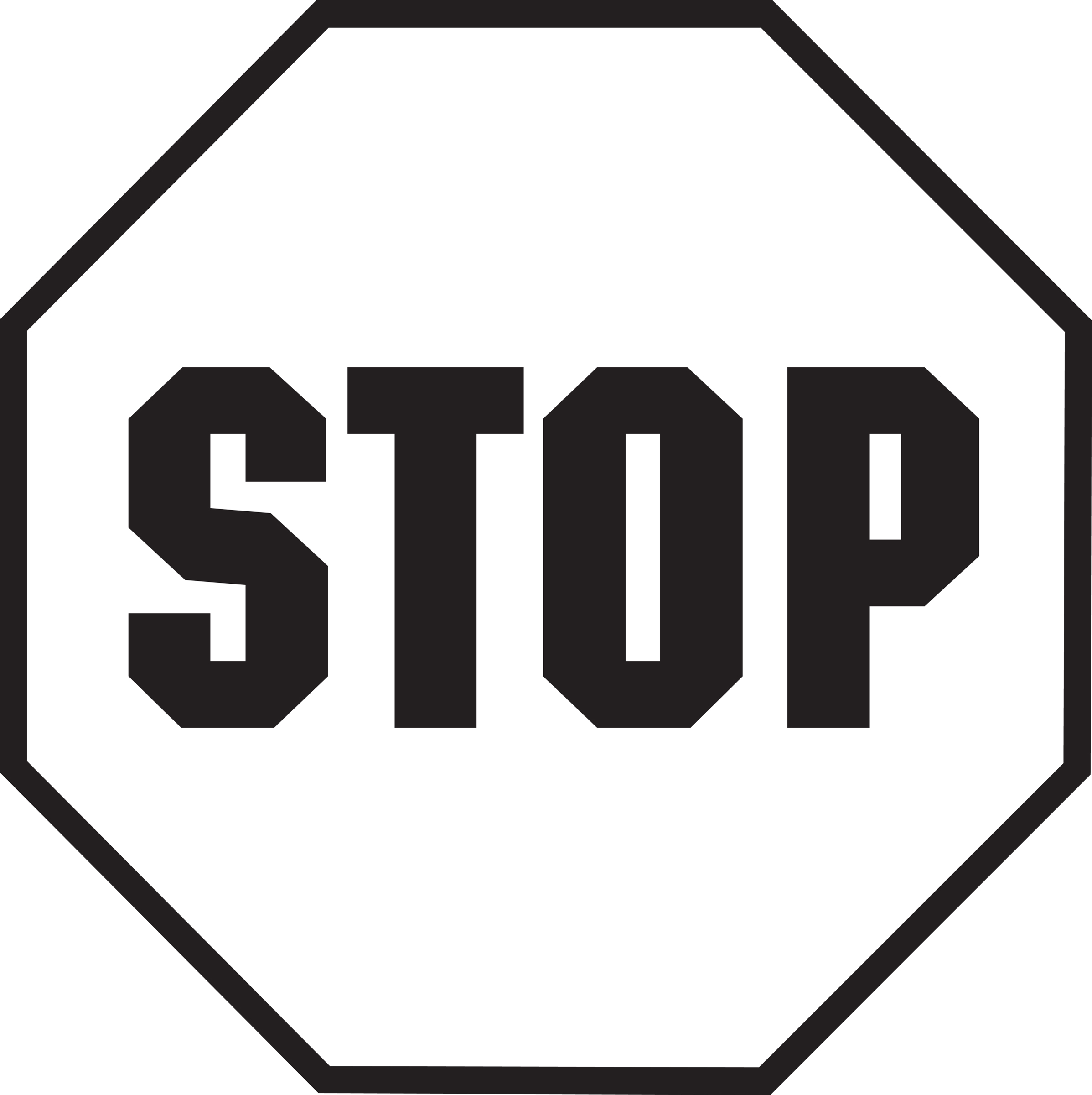 Free Stop Sign Clip Art--16