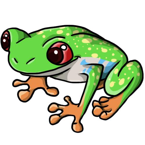 Frogs Clip Art--2