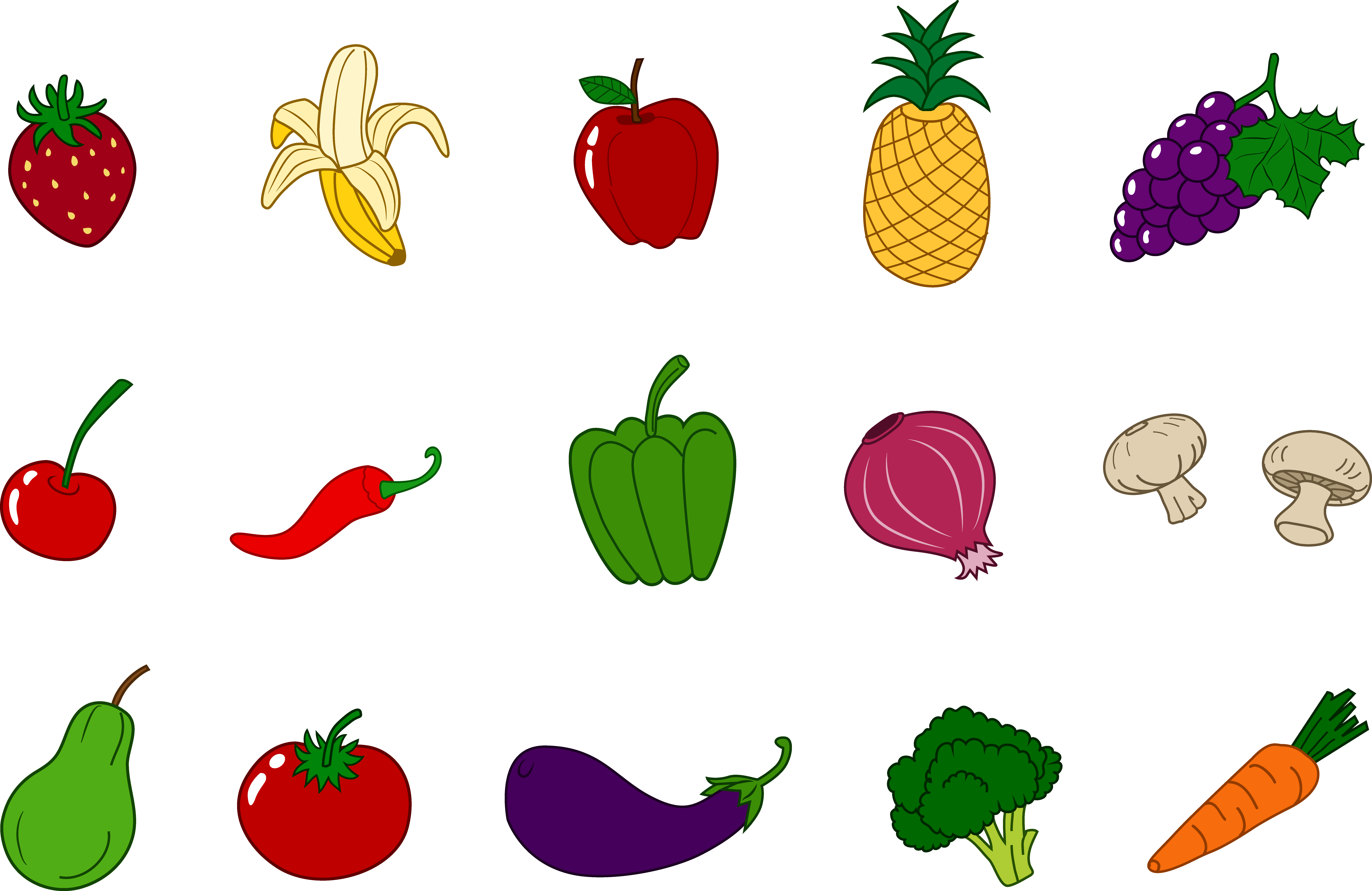 Fruits And Vegetables Clipart--1