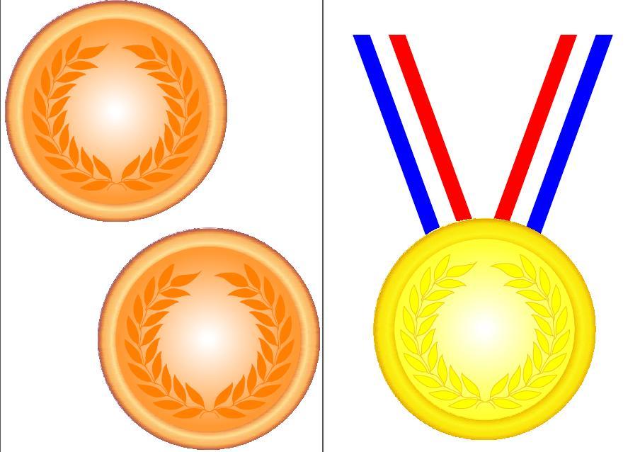 Gold Medal Clip Art--10