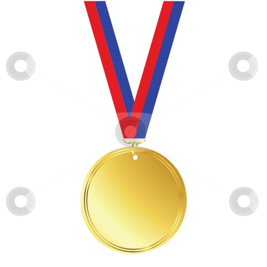 Gold Medal Clipart--0
