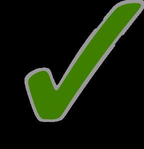 Green Check Mark Clip Art