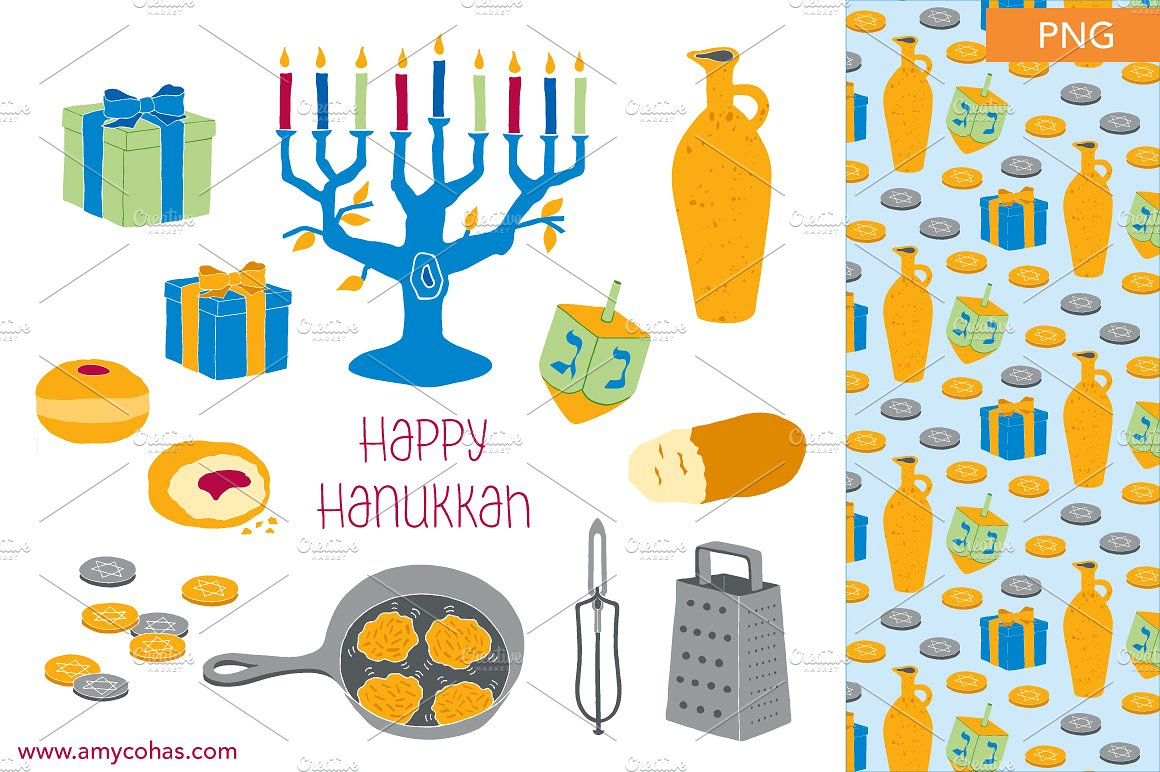 Happy Chanukah Colorful Clipa
