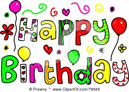 Happy Birthday Clip Art--9
