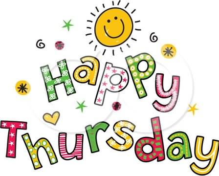 Happy Thursday Clip Art