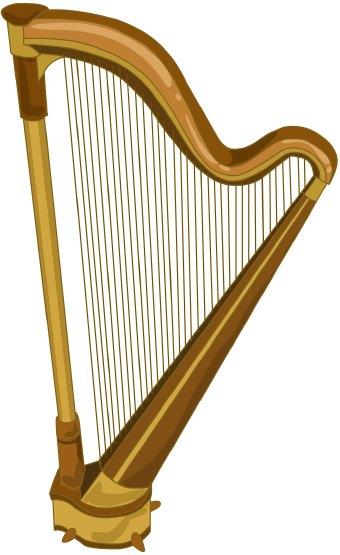 Harp Clip Art--0