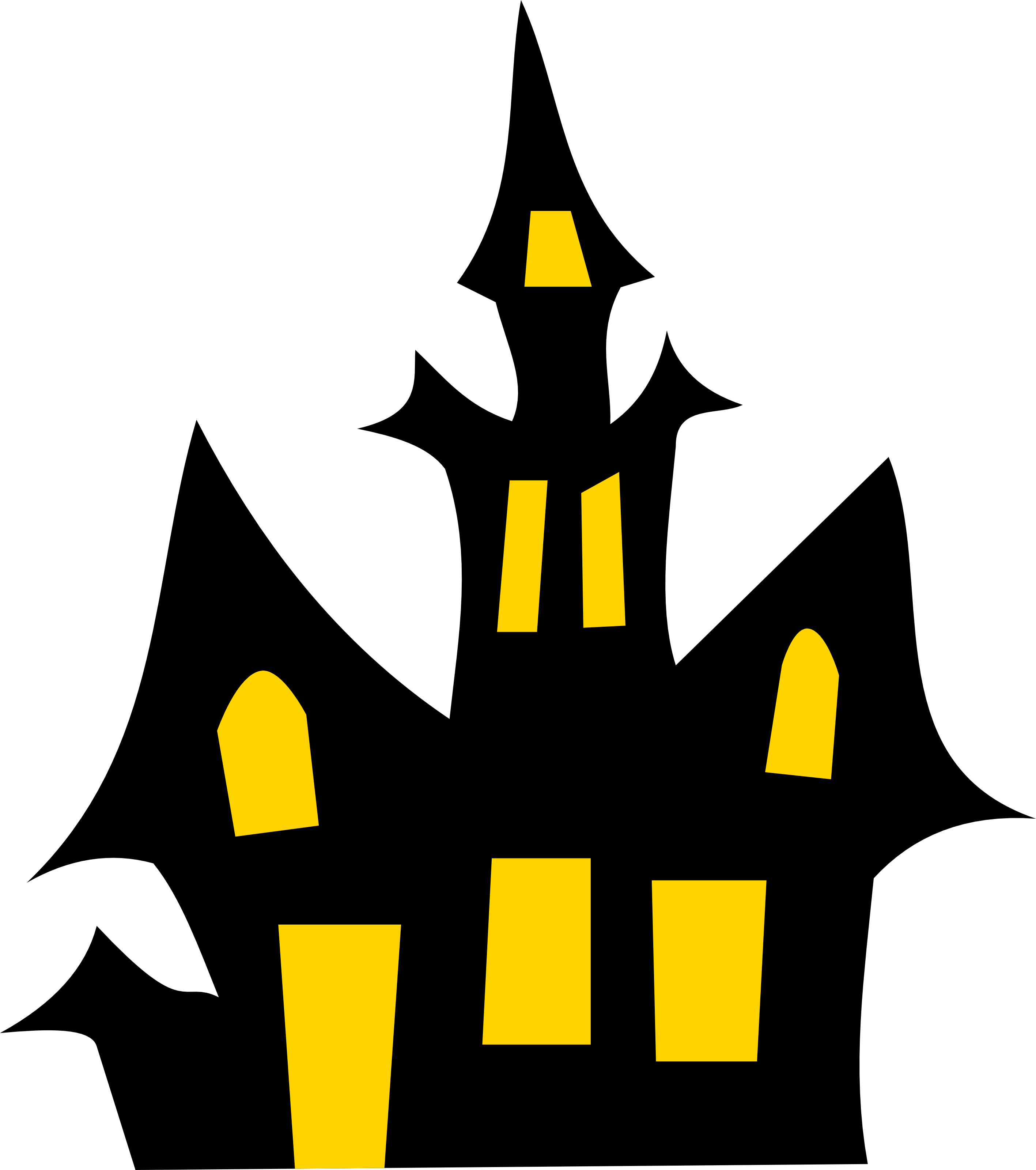Haunted House Clipart--2