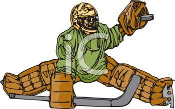 Hockey Goalie Clipart--0