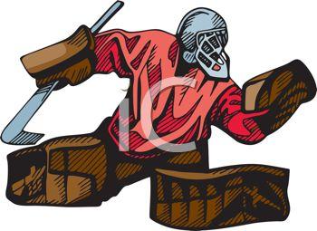 Hockey Goalie Clipart--1
