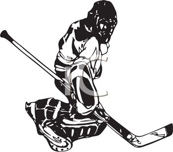 Hockey Goalie Clipart--2