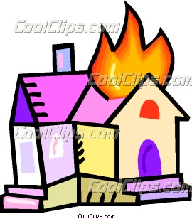 House On Fire Clipart--0