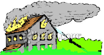 House On Fire Clipart--1