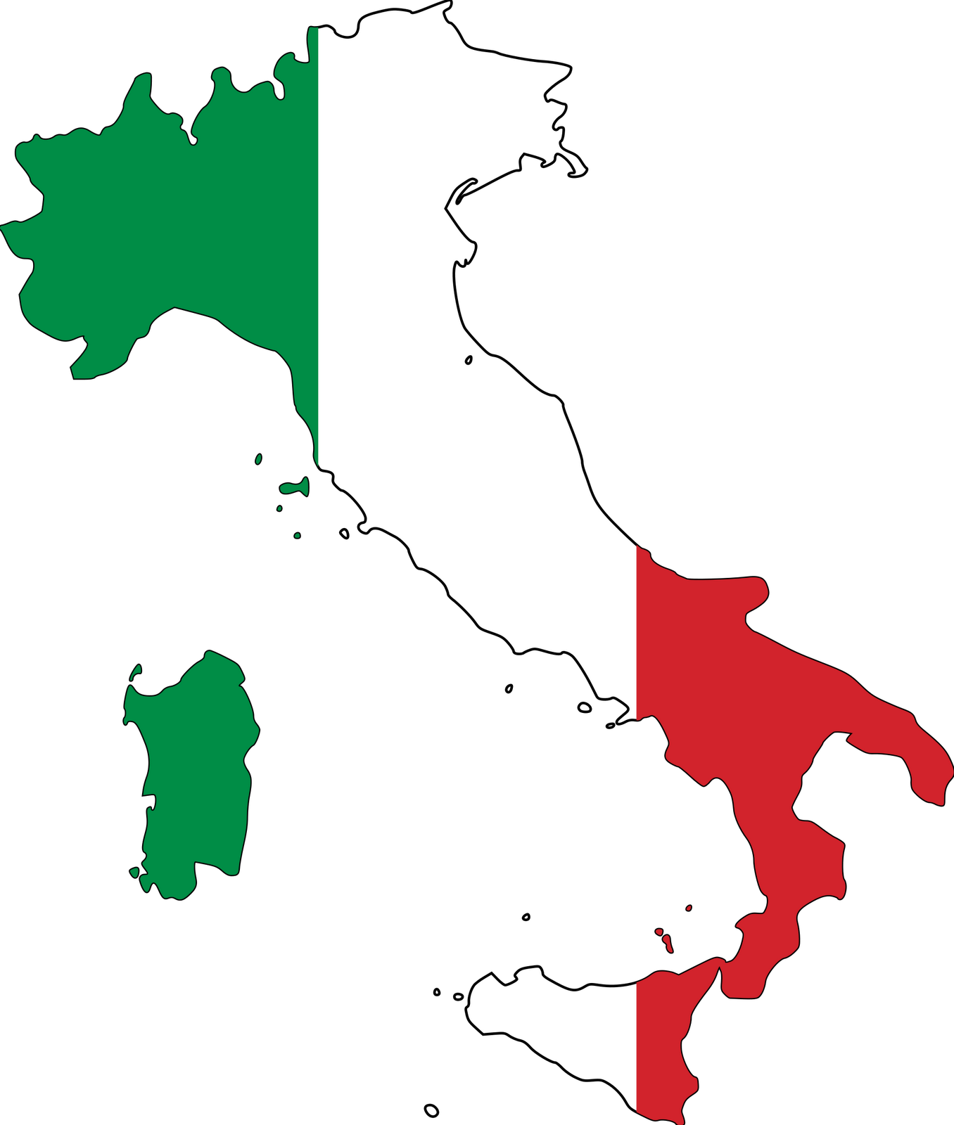 Italian Flag Clip Art--3